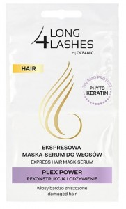 LONG 4 LASHES ekspresowa maska - serum do w艂os贸w PLEX POWER rekonstrukcja i od偶ywienie (2x6ml)