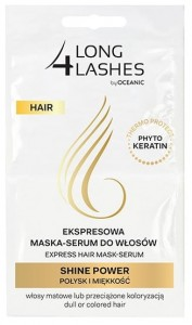 LONG 4 LASHES ekspresowa maska - serum do w艂os贸w SHINE POWER po艂ysk i mi臋kko艣膰 (2x6ml)