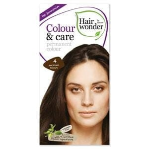 Hairwonder Colour & Care Trwała farba do włosów MEDIUM BROWN 4