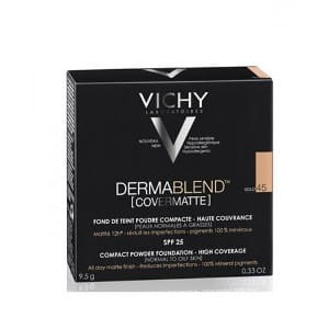 VICHY DERMABLEND COVERMATTE - puder w kompakcie 45 Gold (9,5 g)
