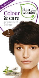 Hairwonder Colour & Care Trwała farba do włosów DARK BROWN 3